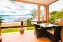 Terrace of Elegant 3 Bedroom Oceanfront Condo wit Balcony