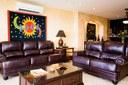 Living Area of Luxury 2 Bedroom Ocean Front 2 Storie Condo in Flamingo
