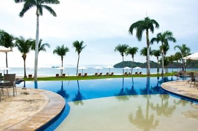 Pool Area of Luxury 2 Bedroom Ocean Front 2 Storie Condo in Flamingo