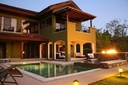Fireplace of Villa Coral #8 Golf Course Luxury Townhome in Conchal