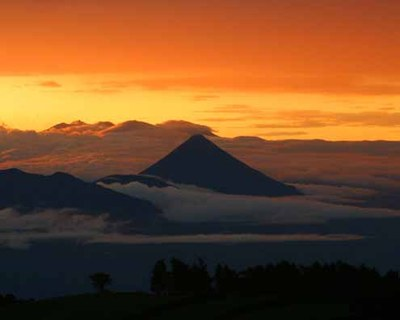 arenal at sunrise