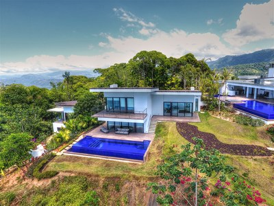 Luxury living in the mountains of Bahia Ballena with ocean view houses for sale in Costa Rica