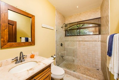 13 - Updated Guest Bathroom With Stone Shower - Ocean-vicinity Luxury Condo For Sale.jpg