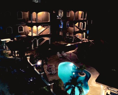 20 - Nightview of Tamarindo Azul Complex - Ocean-vicinity Luxury Condo For Sale.jpg
