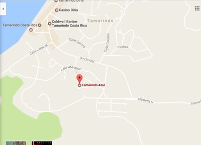 23 - Google Maps Location Of Tamarindo Azul 4 - Ocean-vicinity Luxury Condo For Sale.png