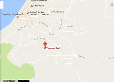 23 - Google Maps Location Of Tamarindo Azul 4 - Ocean-vicinity Luxury Condo For Sale.png