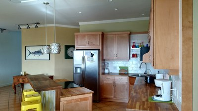 Fully Loaded All Wood Countertop Kitchen - Amazing Ocean View Luxury Condo.jpg