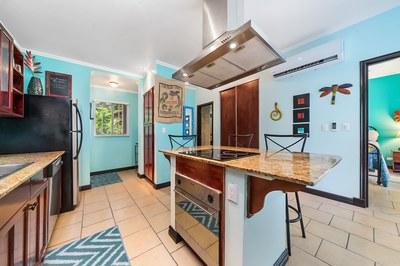 Luxury kitchen with stove hood