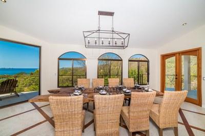 Dining Table Casa Vista Prieta Ocean View House For Sale in Potrero Costa Rica