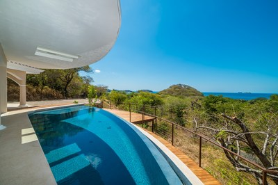 Zero edge pool Casa Vista Prieta Ocean View House For Sale in Potrero Costa Rica