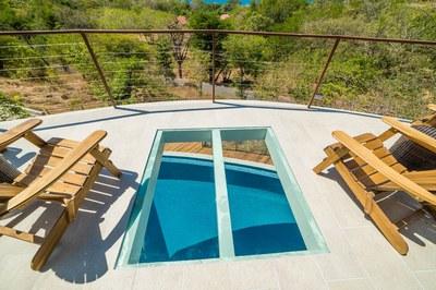 Deck upstairs Casa Vista Prieta Ocean View House For Sale in Potrero Costa Rica