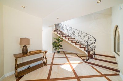 Staircase of Casa Vista Prieta Ocean View House For Sale in Potrero Costa Rica
