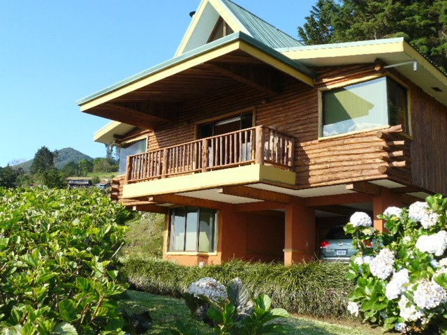 Stunning Views in this Swiss-style chalet with three bedrooms and three full bathrooms.