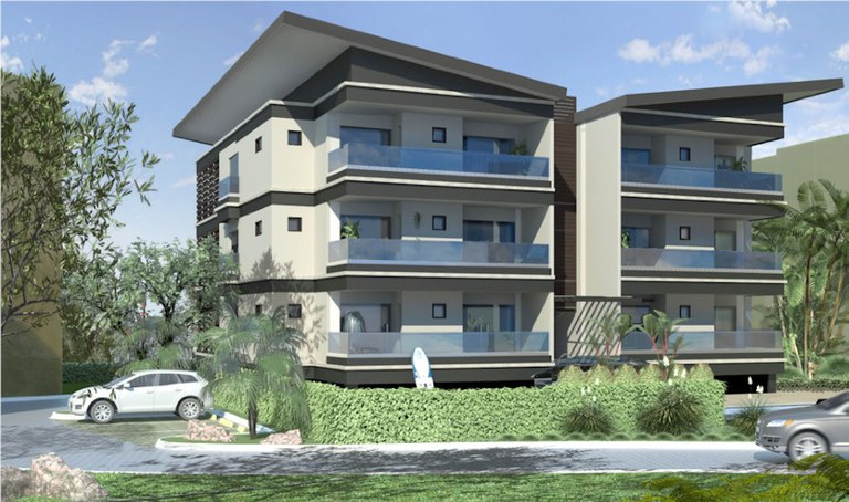 1st Floor - Building 5 - Model A: Costa Rica Oceanfront Luxury Cliffside Condo for Sale
