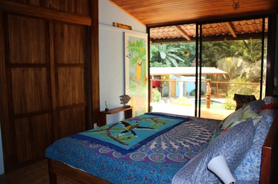 Master Bedroom with glass door at Casa Nené on the Osa Peninsula