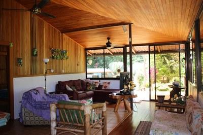 Living Area at Casa Nené on the Osa Peninsula