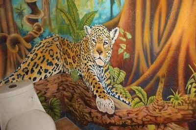 Mural in bathroom at Casa Nené on the Osa Peninsula