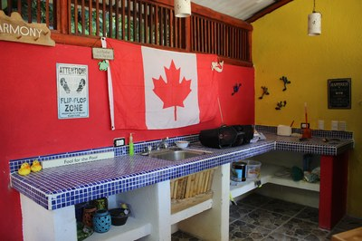 Pool kitchen and bar at Casa Nené on the Osa Peninsula