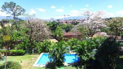 SWIMING POOL VIEW OF /Green House Condominiums: Luxury Condo For Sale in Escazu, Costa Rica