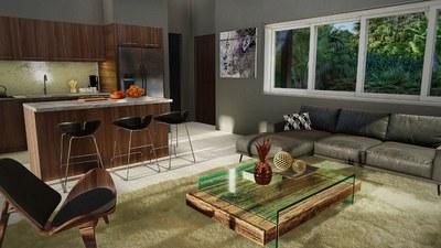 Inside living area - House for sale in Bahia Ballena, Costa Rica