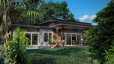 View from the outside - House for sale in Bahia Ballena, Costa Rica