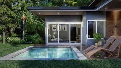 Pool Area- House for sale in Bahia Ballena, Costa Rica