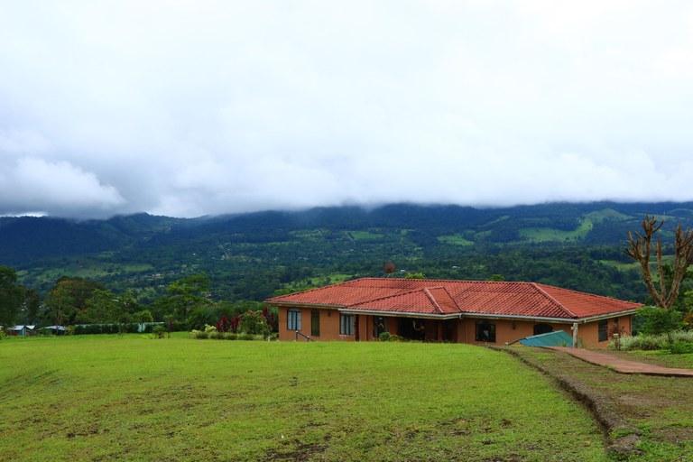 View on Volcan Tenorio-Three houses and Yoga/Meditation room