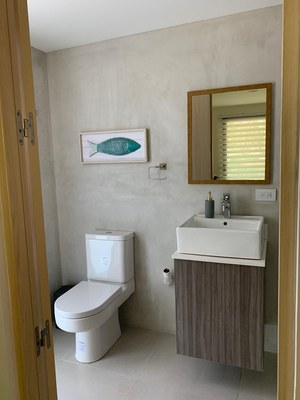 Bathroom view of this exclusive residential beach community in Costa Rica