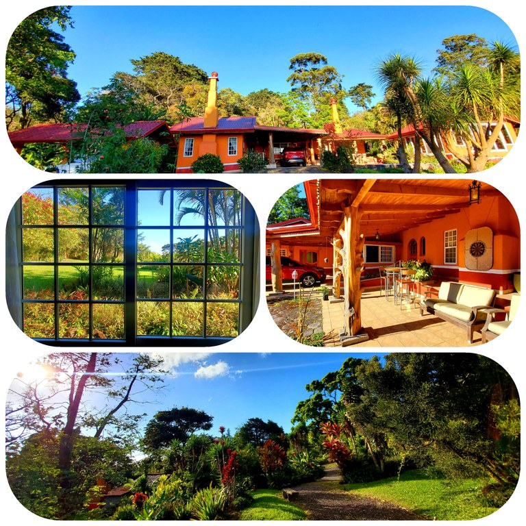 Tranquil and Private- Two Hectares Including Main House, Guest Cabina, Gardener's House, Garage, etc.