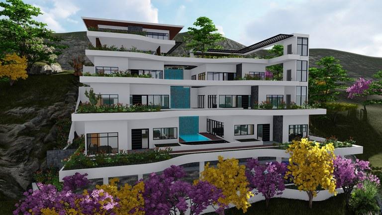 Villa Del Mar Ocean Lot #38: Luxurious Sixplex & Two level Penthouse in Coco Bay Estates